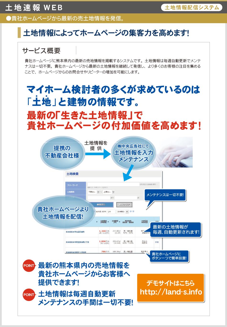 土地情報配信システム「土地速報WEB」